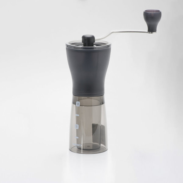 Hario Ceramic Coffee Grinder Mini-Slim PLUS Clear